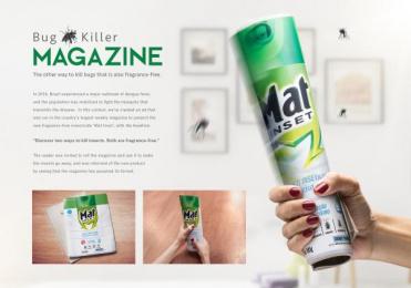 Mat Inset: Bug Killer Magazine Print Ad by WMcCann Brazil