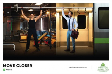 Prestige Jindal City: Move Closer - Fitness Print Ad by Watercrab Bangalore
