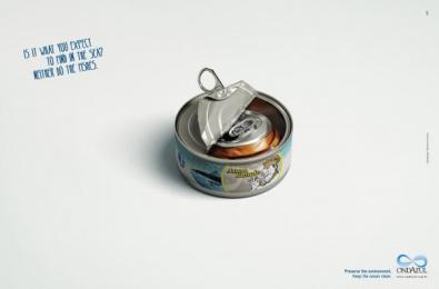 OndAzul: Tuna Print Ad by Que Comunicacao