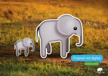 Zoo Cologne: Elephants Print Ad by Preuss Und Preuss Germany