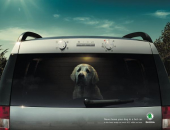 Skoda: Like an Oven Print Ad by Boys and Girls Dublin