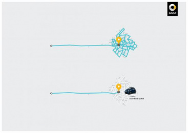 Smart: Parking Print Ad by BBDO Brussels