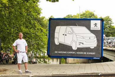 Peugeot: Masonry Outdoor Advert by Havas Boondoggle Amsterdam
