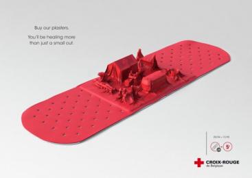 Red Cross: Plaster Print Ad by Havas Worldwide Brussels