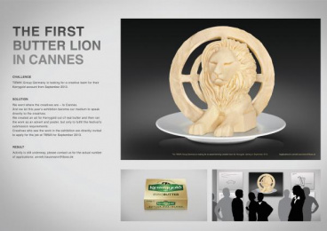 TBWA\: THE FIRST BUTTER LION IN CANNES Direct marketing by TBWA\ Dusseldorf