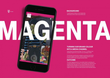 The Lenz App: Magenta Unleashed [image] Outdoor Advert by Passion Pictures, Saatchi & Saatchi London