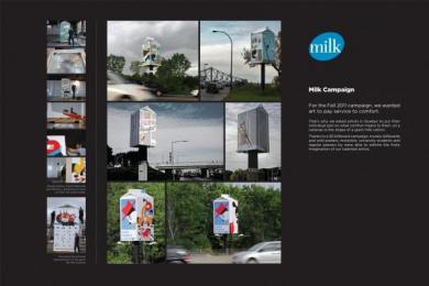 Federation Des Producteurs De Lait Du Quebec: MILK, NATURAL SOURCE OF COMFORT Outdoor Advert by Nolin BBDO Montreal