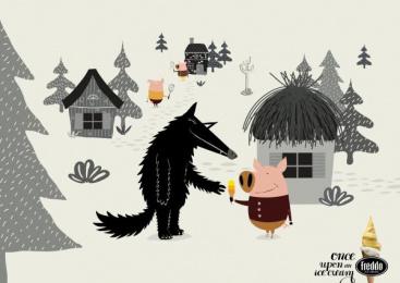 Freddo: Three Little Pigs Print Ad by Y&R Buenos Aires