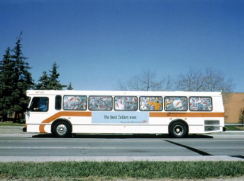 Zellers: PAINTED BUS Print Ad by Ogilvy & Mather Toronto