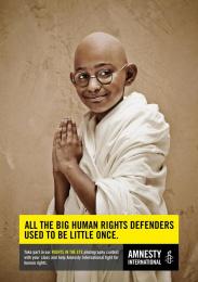 Amnesty International: Little Gandhi Print Ad by Air Brussels