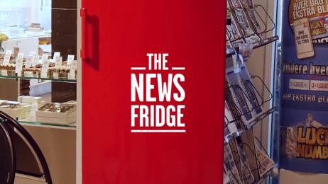 Ekstra Bladet: The news fridge Outdoor Advert by BBDO Denmark, Ogilvy Copenhagen