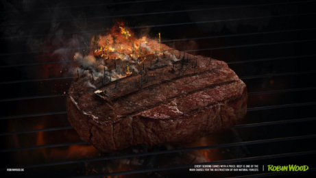Robin Wood: Every Serving Comes With a Price, 1 Print Ad by Serviceplan Campaign X Munich