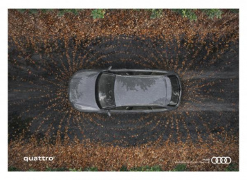 Audi Quattro: Magnetic Force - Wet Road Print Ad by Ogilvy Cape Town