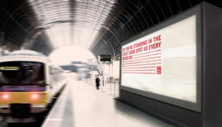 British Heart Foundation/ BHF: When You Least Expect It - Train Station Outdoor Advert by MullenLowe London