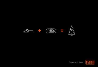 Black & Decker: Christmas tree Print Ad by B1G Digital Bogotá