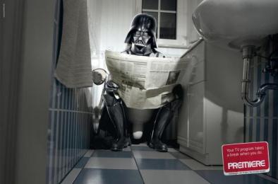 Premiere Pay Tv: BATHROOM Print Ad by DDB Berlin