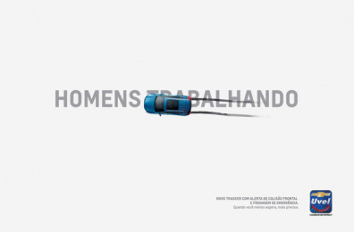 Uvel Chevrolet: Men at Work Print Ad by Woop Comunicação