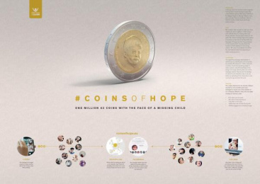Child Focus: Coins Of Hope [image] 2 Design & Branding by These Days Y&R Antwerpen