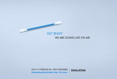 Enolaton: World Music Day Print Ad by Yuweus Kolkata