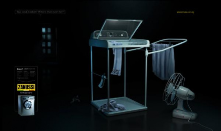 Zanussi: Washer Won't Wash! 2 Print Ad by DDB Cairo