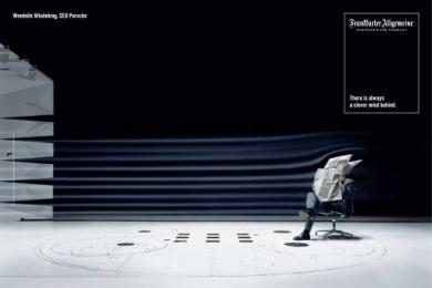 Frankfurter Allgemeine Zeitung: WIEDEKING Outdoor Advert by Scholz & Friends Berlin