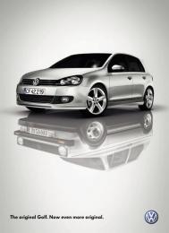 Volkswagen Golf: Reflection Print Ad by DDB Copenhagen