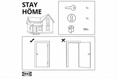 IKEA: Stay Home Print Ad by Universal McCann Spain
