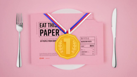 Care International: Eat This Paper Film by Kindred