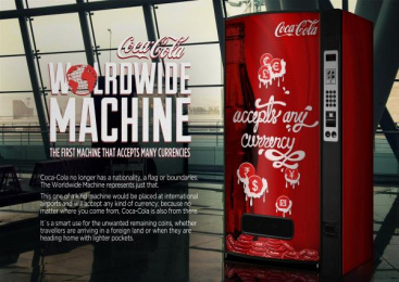 Coca-cola: The world wide machine Outdoor Advert by Miami Ad School Madrid