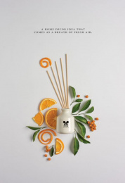 Iris Home Fragrances: Orange Print Ad by Plan B, Yellow Umbrella Productions