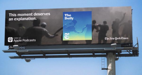 The New York Times: This Moment Deserves to be Understood, 4 Outdoor Advert