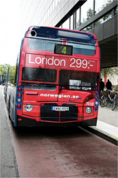 "Norwegian Air Shuttle: ""The London Bus"" Outdoor Advert by Volt"
