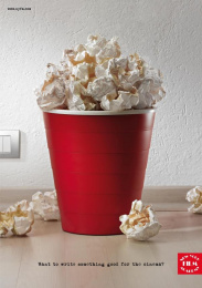 New York Film Academy: POP CORN Print Ad by Red Cell