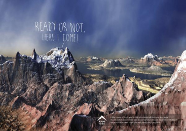 K-WAY OUTDOOR GEAR: Ready or not Print Ad by Canvas Cape Town