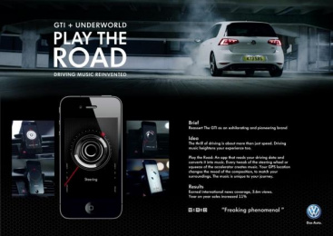 Volkswagen Golf Gti: Play The Road - Reinventing driving music Case study by B-Reel, Tribal London