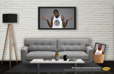 Command: Kevin Durant Print Ad by S.I. Newhouse School of Public Communications Syracuse New York