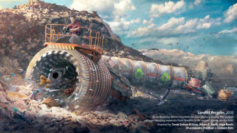 MiSK Global Foundation: Landfill Recycler Print Ad by Akqa London