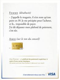 Visa: Femme Print Ad by Saatchi & Saatchi + Duke France