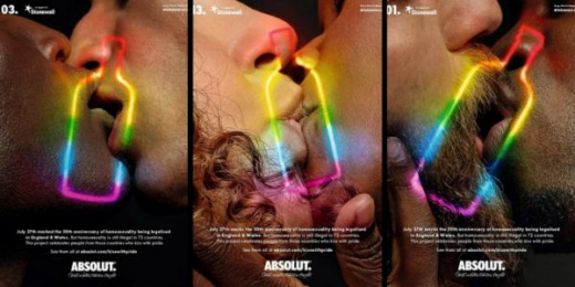 Absolut: Kiss With Pride Print Ad by BBH London