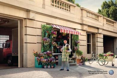Volkswagen Trucks: Flower Boutique Print Ad by ALMAP BBDO Brazil