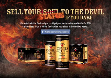 Devil's Cut RTD: Sell Your Status to the Devil Digital Advert by Young & Shand