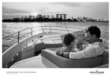 Princess Yachts: Father & Son Print Ad by Bsur Amsterdam
