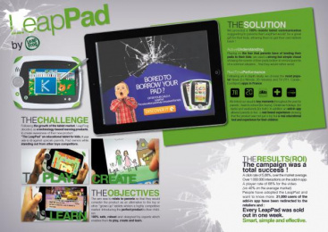 Leappad: LEAPPAD LAUNCH Promo / PR Ad by ZenithOptimedia New York