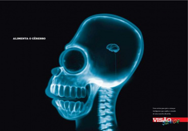 Visao Junior: Charge your brain Print Ad by Red Cell
