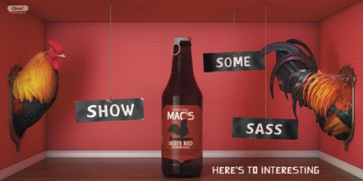 Mac's Brewery: Mac's Sassy Red Outdoor Advert by Meares Taine Auckland, Shine Limited / Auckland