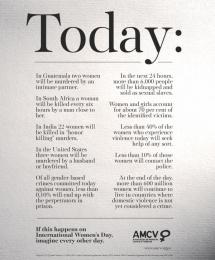 Associacao De Mulheres Contra A Violencia (AMCV): Today Print Ad by Fuel Lisbon