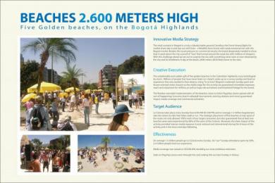 ALMACENES ÉXITO STORES: BEACHES 2600 METERS HIGH Print Ad by Sancho BBDO Bogota