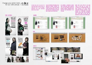 DIRECTORS CLUB: STOLEN BOOKS Promo / PR Ad by Ruiz Nicoli