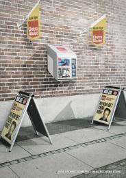 Ekstra Bladet: DENMARKS SMALLEST NEWS STAND Print Ad by Robert/Boisen & Like-minded