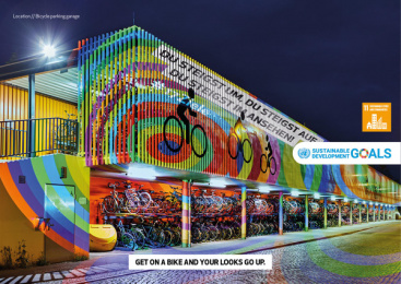 17Ziele: 17 Live Projections, 8 Print Ad by HUisHU. Digitale Kreativagentur, Hamburg & Hannover, Germany